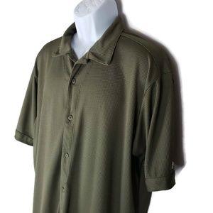 Adidas ClimaLite Mens Golf Button up Shirt EBM849